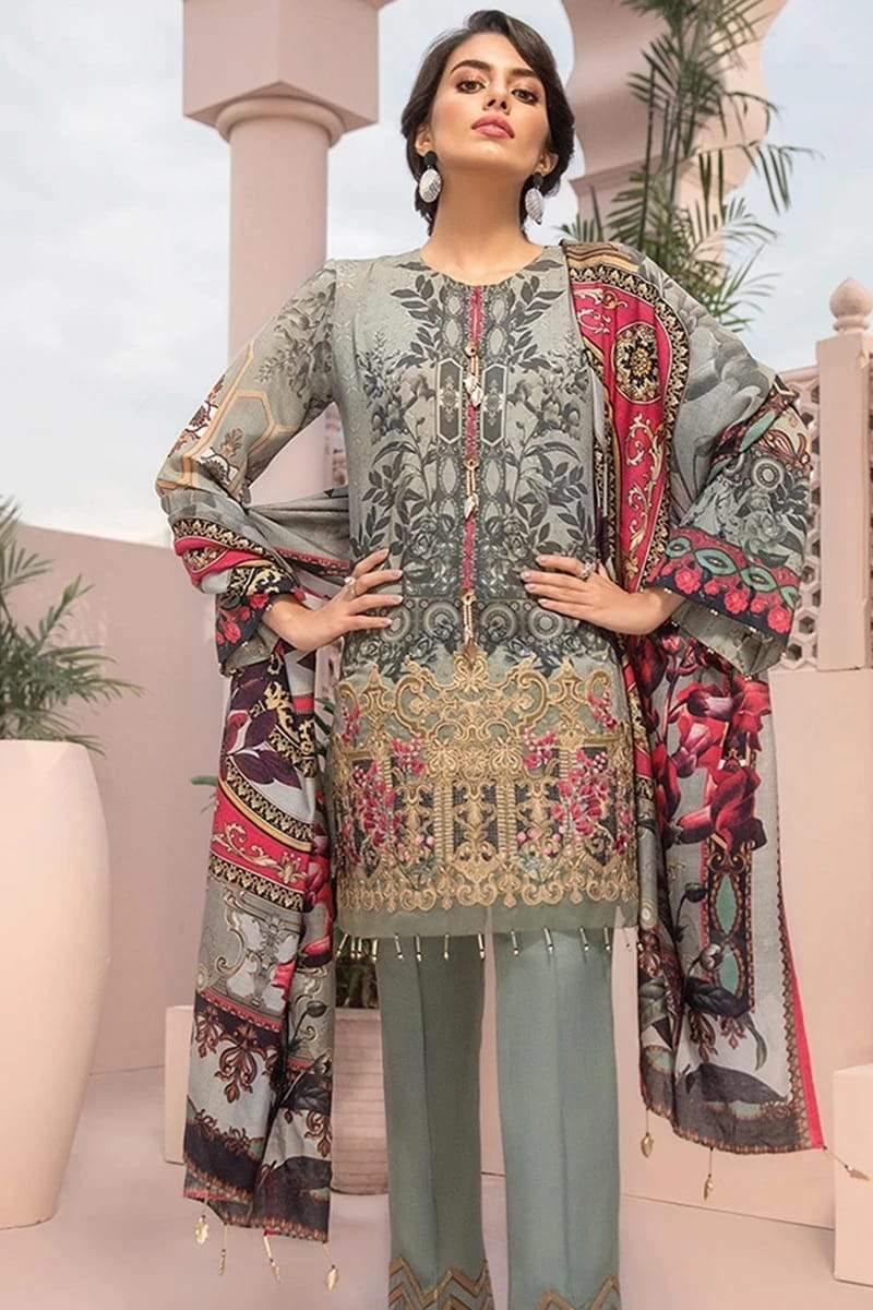 Iznik IZ-13 Embroidered Three Piece Linen Collection