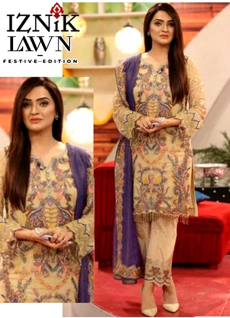 Iznik D 336  EID Collection Embroidered Three Piece Lawn Collection
