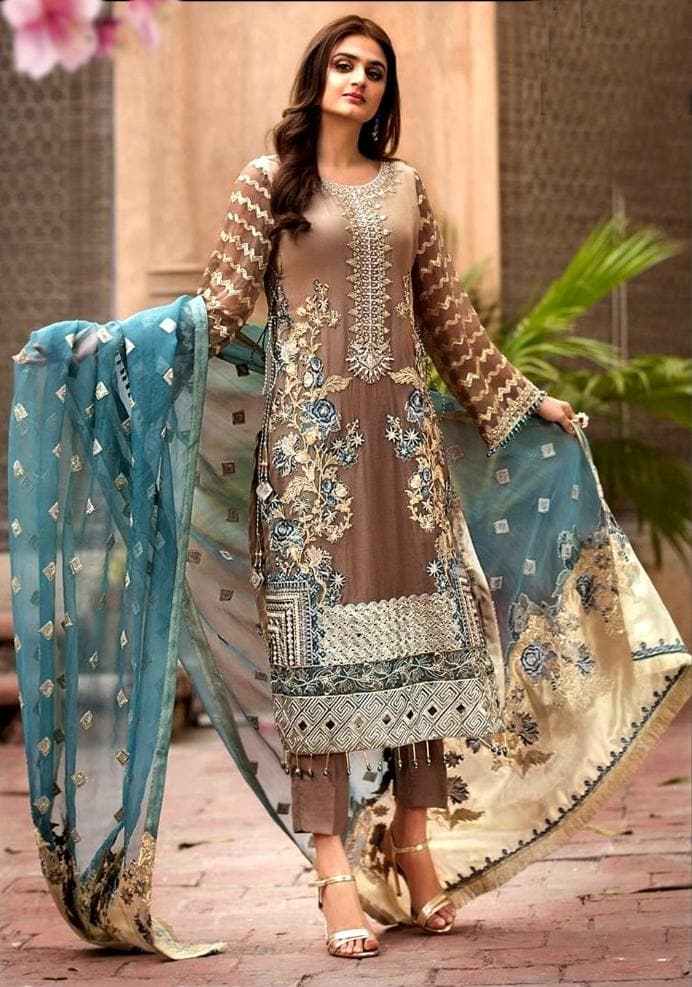 Iznik D-464 Embroidered Three Piece Lawn Collection