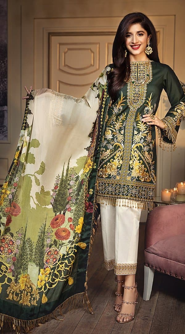 Anaya AN-201A Embroidered Three Piece Lawn Collection