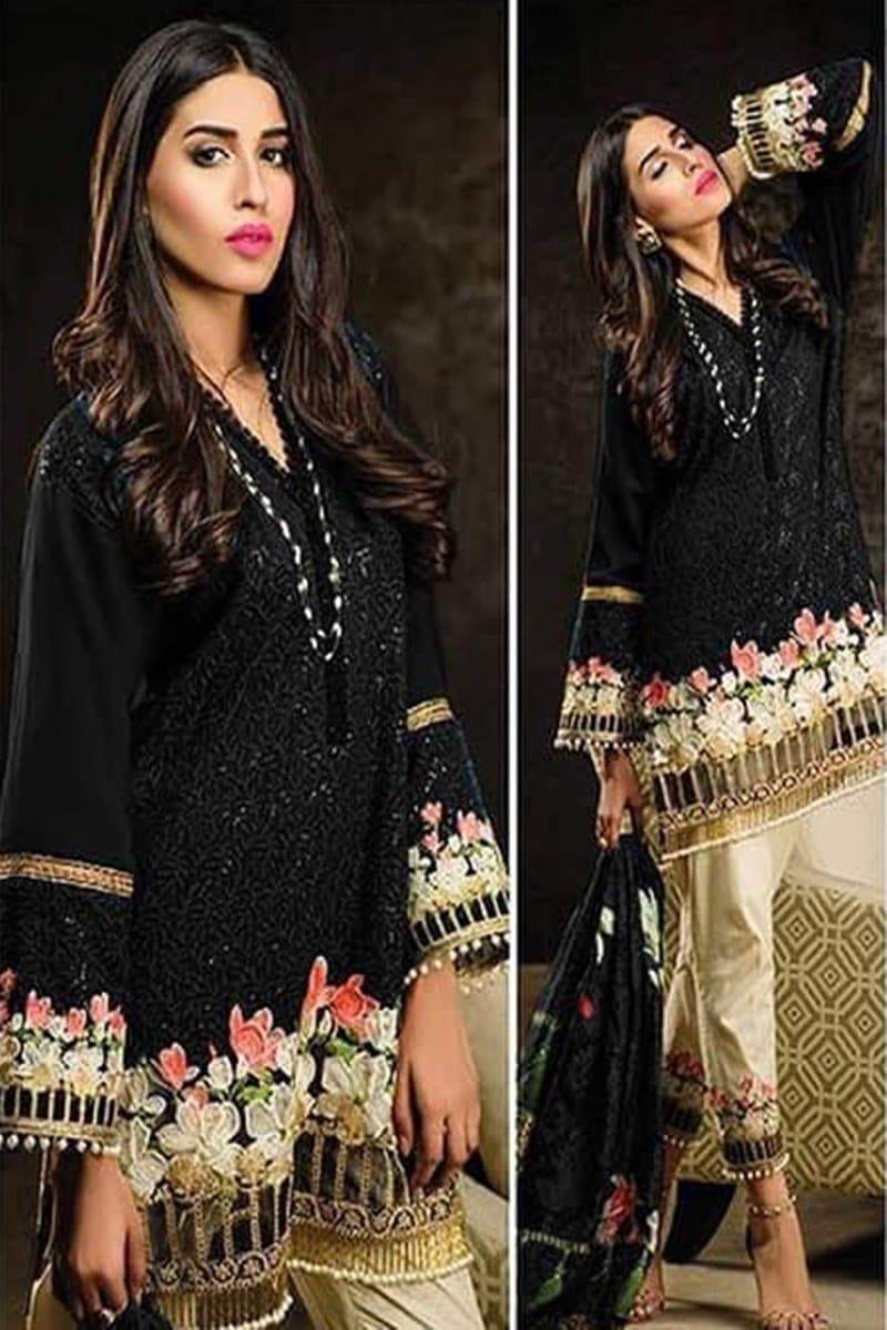 Charizma CH-01 Black  Embroidered Two Piece Lawn Collection