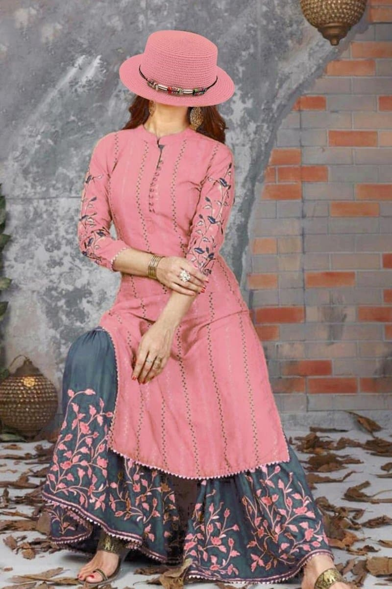 Lajwanti LJ-10 Pink Lawn Embroidered two piece Summer Collection