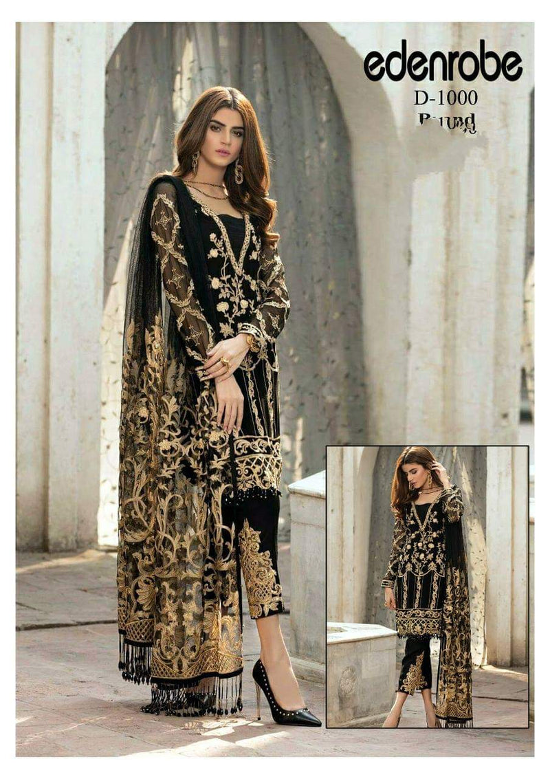 Eden Robe ER-462 Embroidered Linen Three Piece Summer Collection