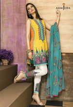 Asim Jofa AJ-460 Embroidered Lawn Three Piece Summer Collection