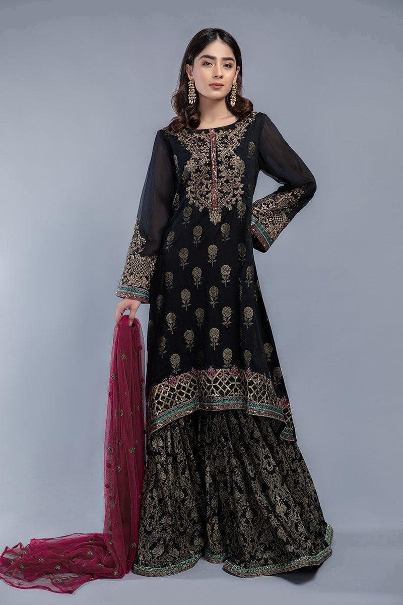 Maria B D-356 Black Eid Collection Embroidered Three Piece Lawn Collection