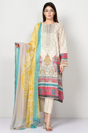 Limelight LT-338 Embroidered Three Piece Lawn Collection