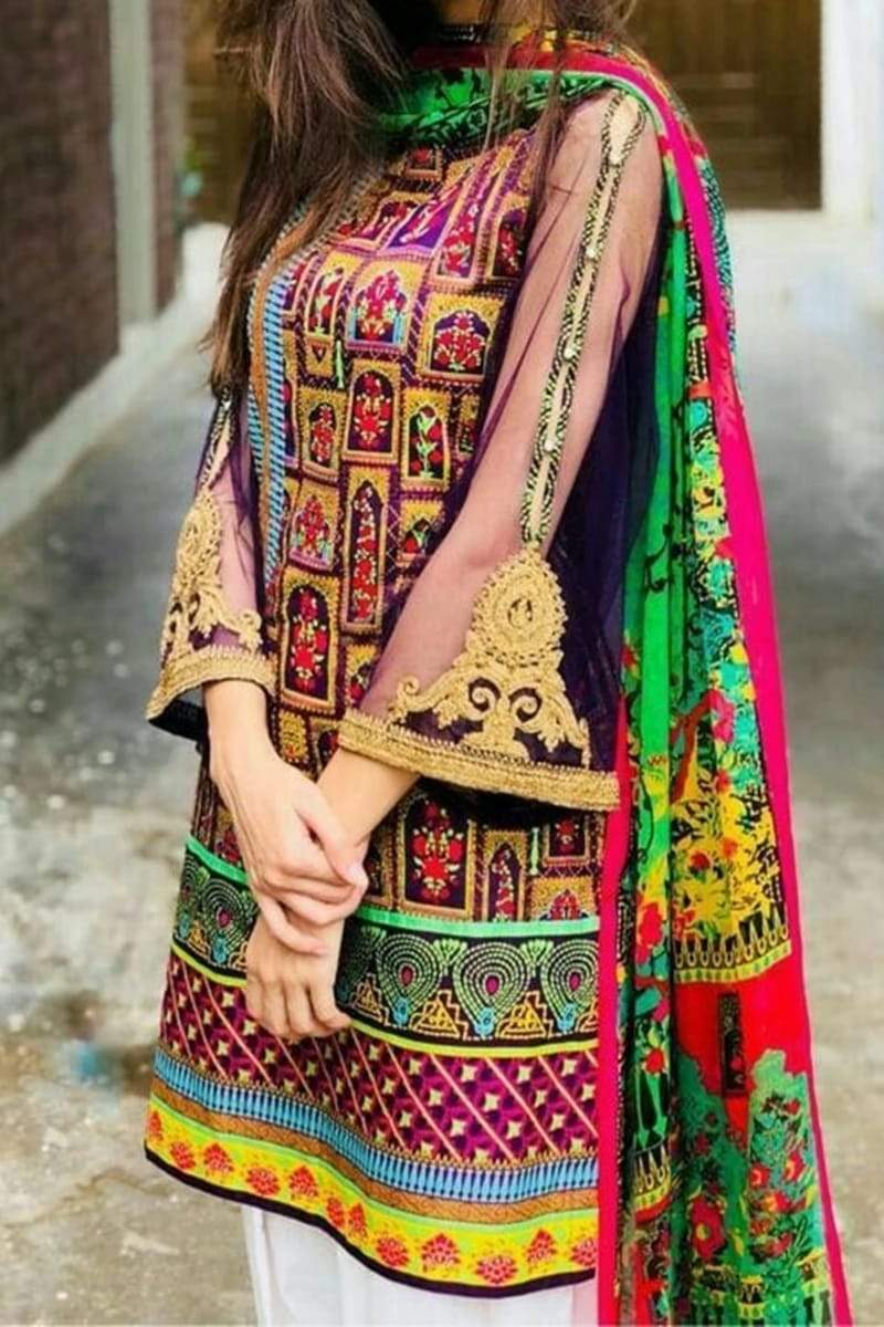 Nakoosh NK-2030 Embroidered two piece Lawn Collection