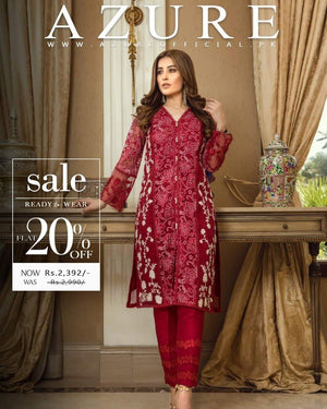 Aruze D-344 Red Lawn Collection Embroidered two piece