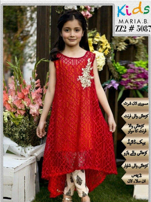 Maria B ZZ2-5087 Kids Wear Lawn Embroidered Two Piece