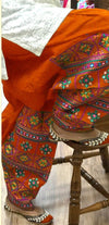 Khaadi K-11 Orange Embroidered Linen two piece Winter Collection