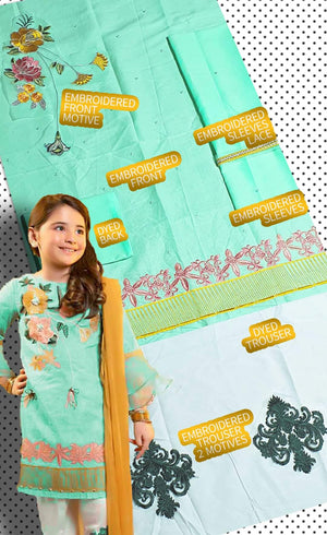 Charizma ZZ2-5112 Kids Wear Lawn Embroidered Two Piece