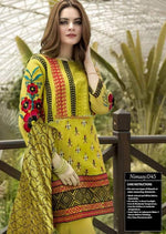 Nimsay NM-03 Mustard Embroidered Linen two piece Winter Collection