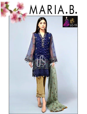 Maria B LC-15 Embroidered Linen two piece Winter Collection