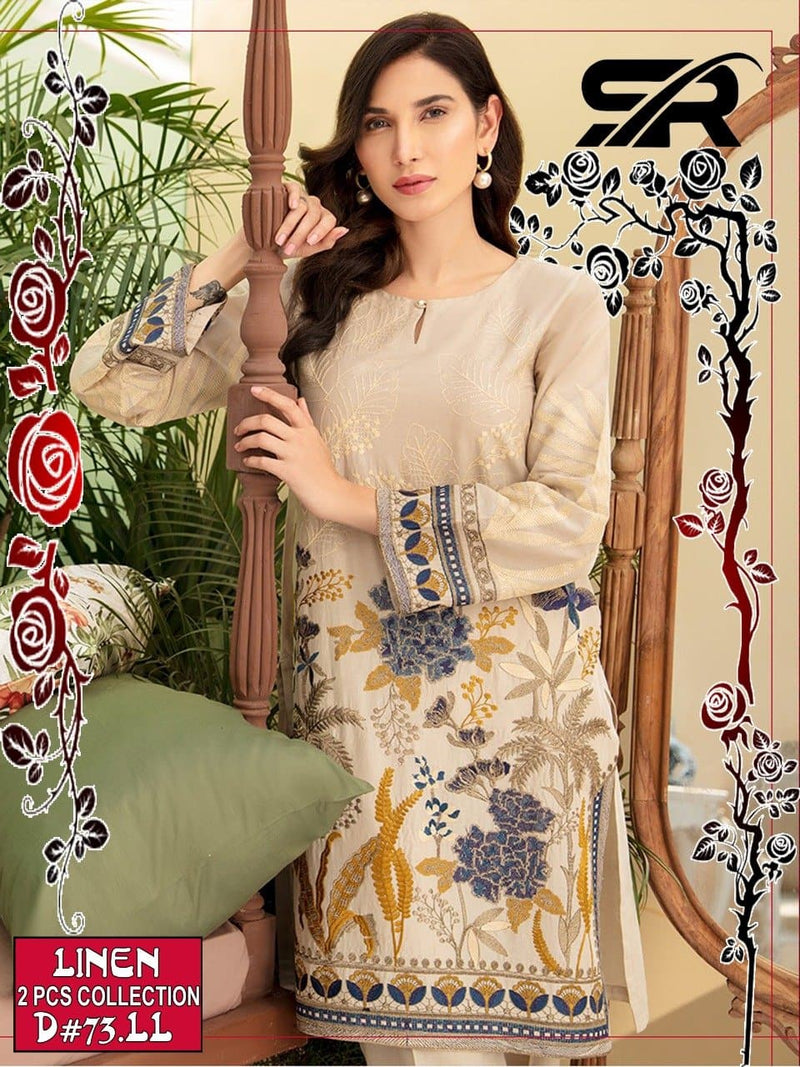 Limelight SR-73 Embroidered Linen two piece Winter Collection