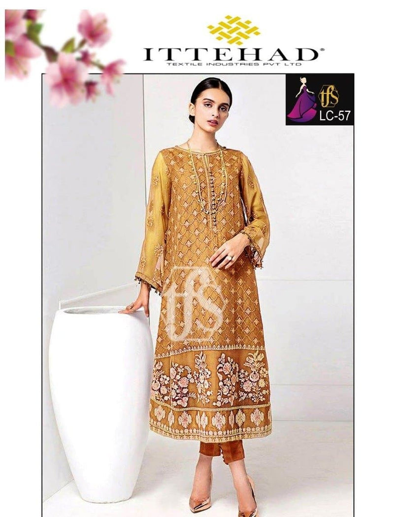 Ittehad LC-57 Embroidered Linen two piece Winter Collection