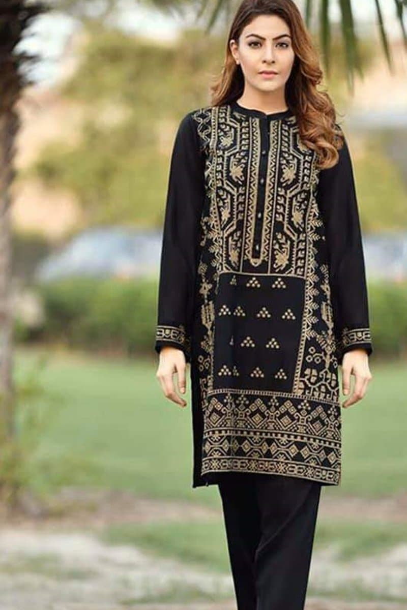 Maria B MB-1680 Embroidered Linen two piece Winter Collection