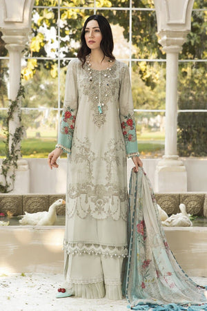 Maria. B CH-810 Embroidered Three Piece Linen Collection