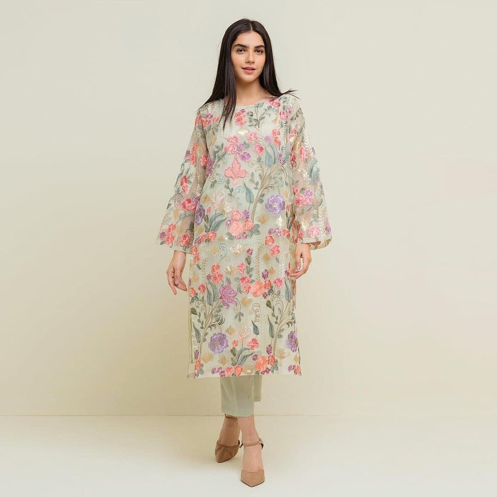 Beechtree JL-02 Embroidered Organza two piece Winter Collection