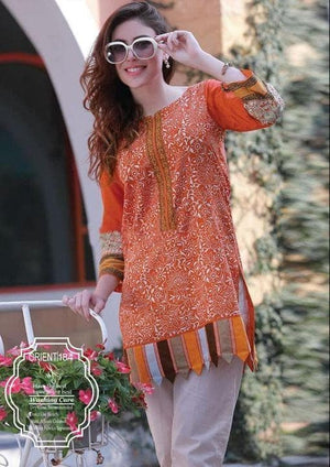 Khaadi ZC-Orange Khaddar Embroidered Two piece