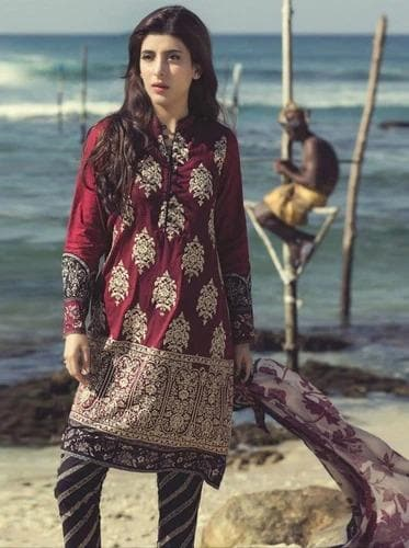 Maria B MB-1599 Khaddar Embroidered Two piece