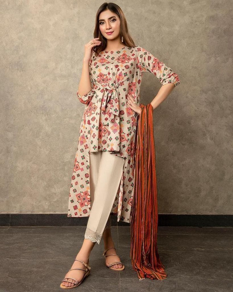 Aruze AZ-5029 Skin (Linen) Embroidered two piece Linen Collection