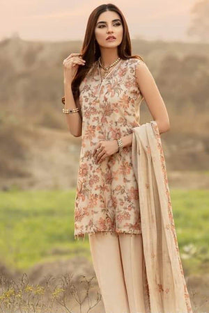 Bareeze BR-5026 SKin (Linen) Embroidered Three Piece Linen Collection