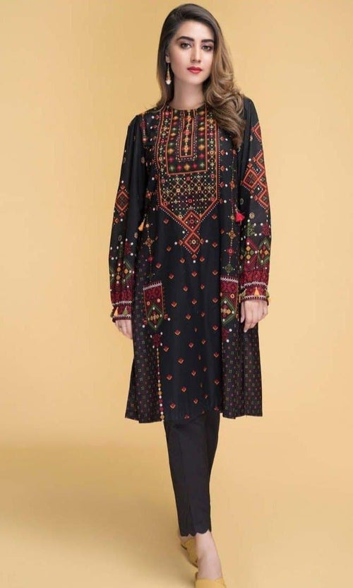Chinyere ZZ2-1634 Linen Embroidered Two piece Winter Collection
