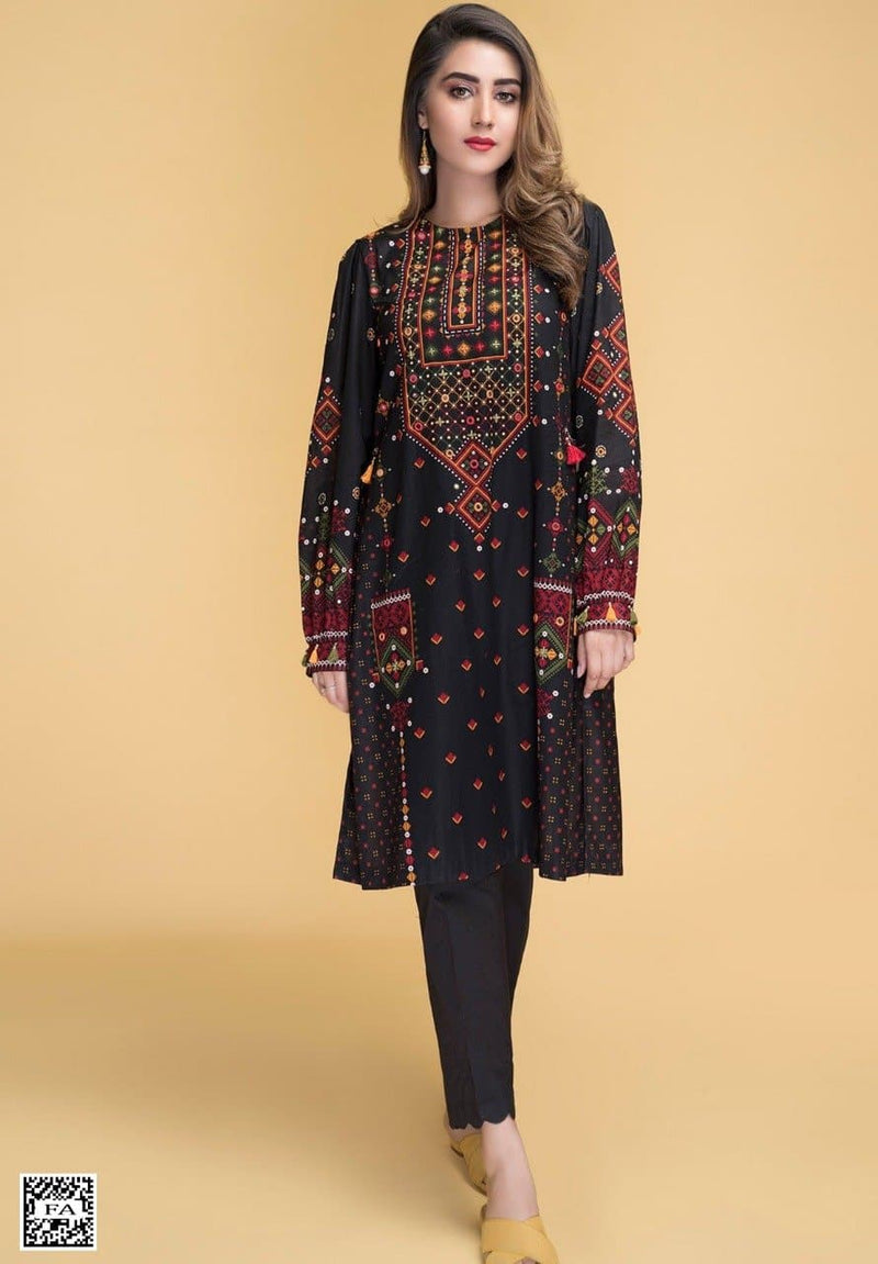 Kayserya JL-100042 Linen Collection Embroidered two piece