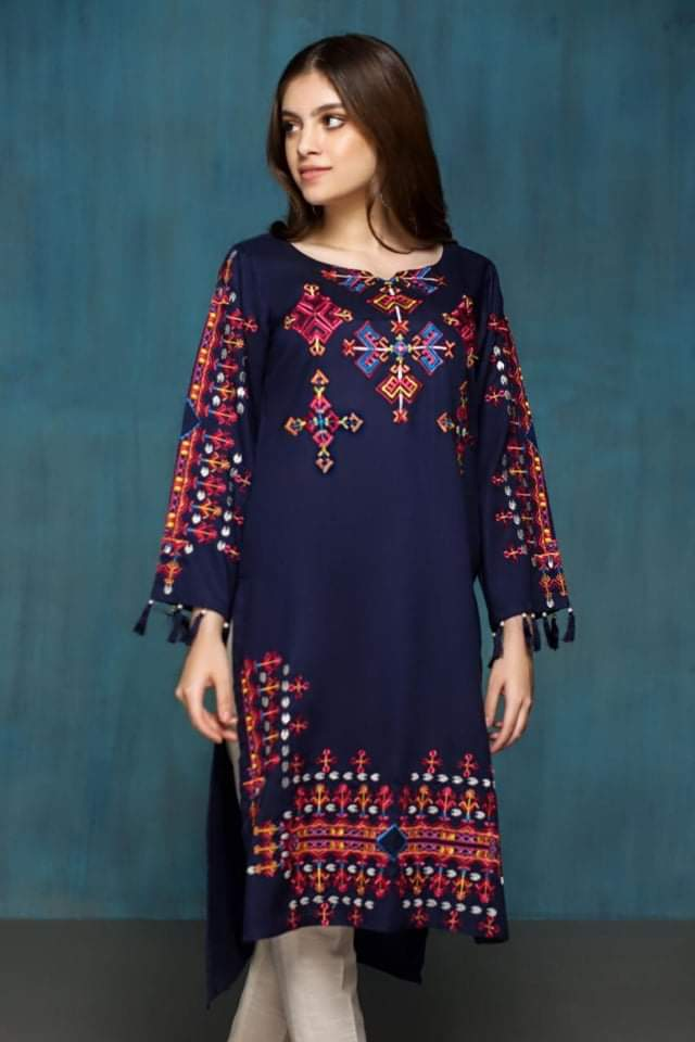 Musammry JL-100041 Linen Collection Embroidered two piece