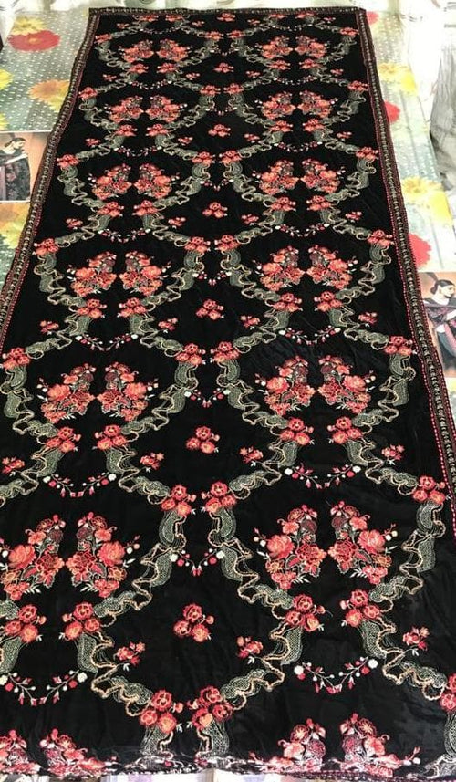 Bareeze Br-0002 Embroidered Fine Quality Velvet Shawl