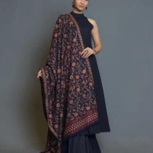 Bareeze Br-0008 Formal Heavy Embroidered Karandi Lawn shawl
