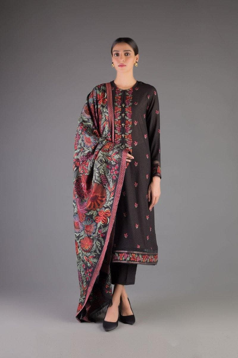Bareeze Br-00010 Formal Heavy Embroidered Karandi Lawn shawl