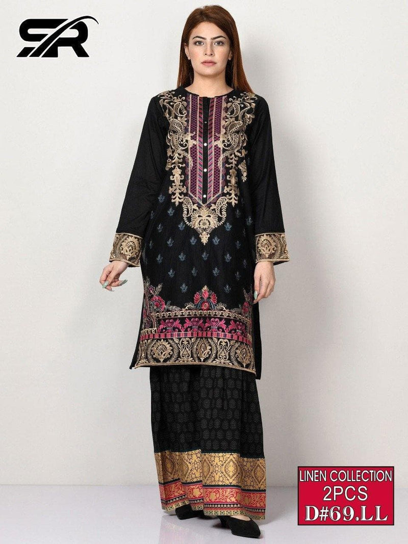 AGHA NOOR  D-69, UNSTITCHED EMBROIDERED 2PC DRESS - Chenab Stuff