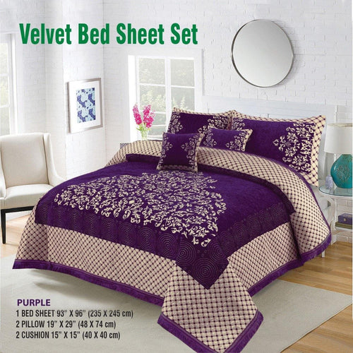Foamy Velvet Bed Set Design HF#026 - Chenab Stuff