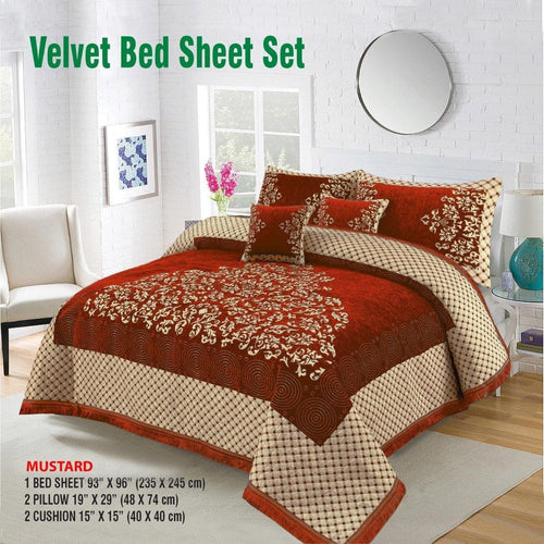 Foamy Velvet Bed Set Design HF#025 - Chenab Stuff