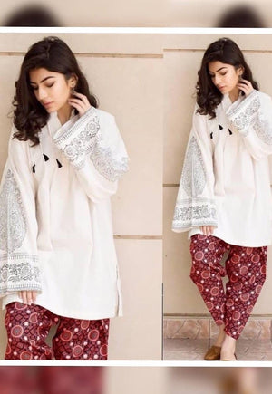 Lajwanti LJ-05 Lawn Embroidered two piece Summer Collection