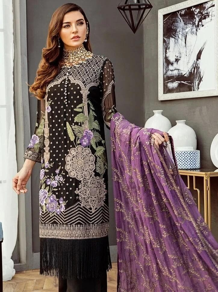 jazmin JM-3022 Embroidered Three Piece Lawn Collection