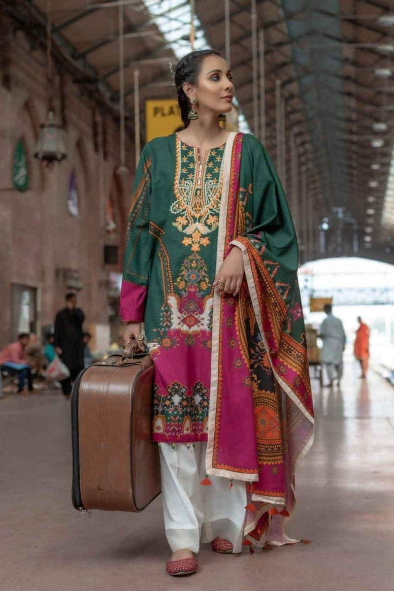 Rang ja RJ 3109 Embroidered Three Piece Lawn Collection