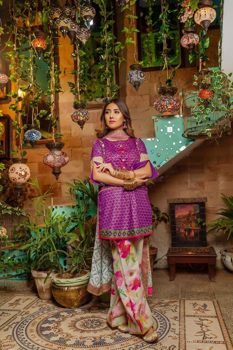 Zahra Ahmed D-19 Embroidered Three Piece Lawn Collection