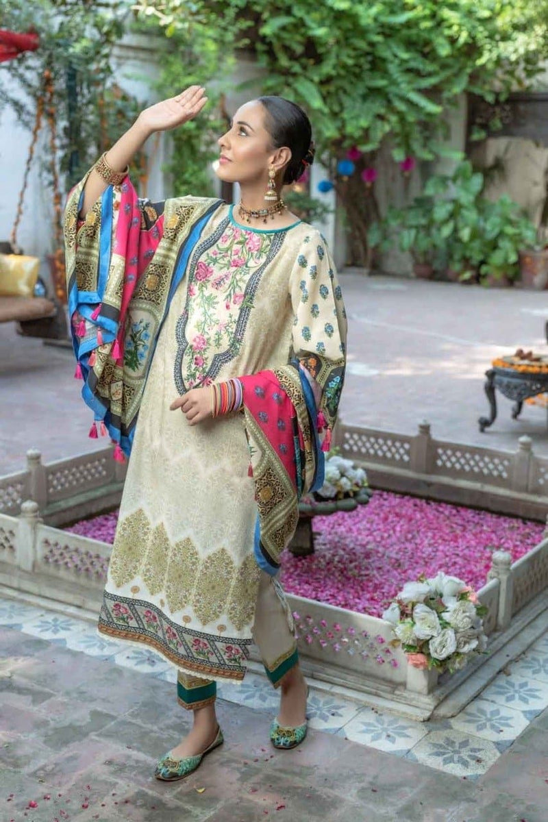 Rang ja RJ 3110 Embroidered Three Piece Lawn Collection