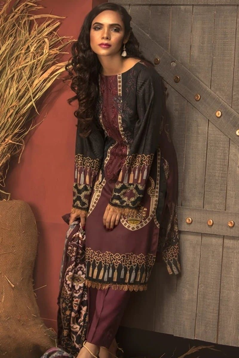 Salitex ST-3140 Embroidered Three Piece Lawn Collection
