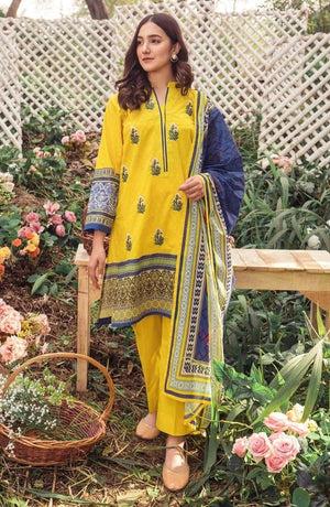 Orient OR-3148 Yellow Embroidered Three Piece Lawn Collection