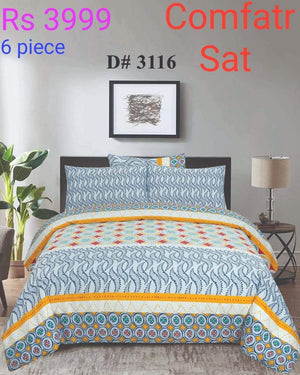 Comforter Set 6 Pcs Design ZC-3116