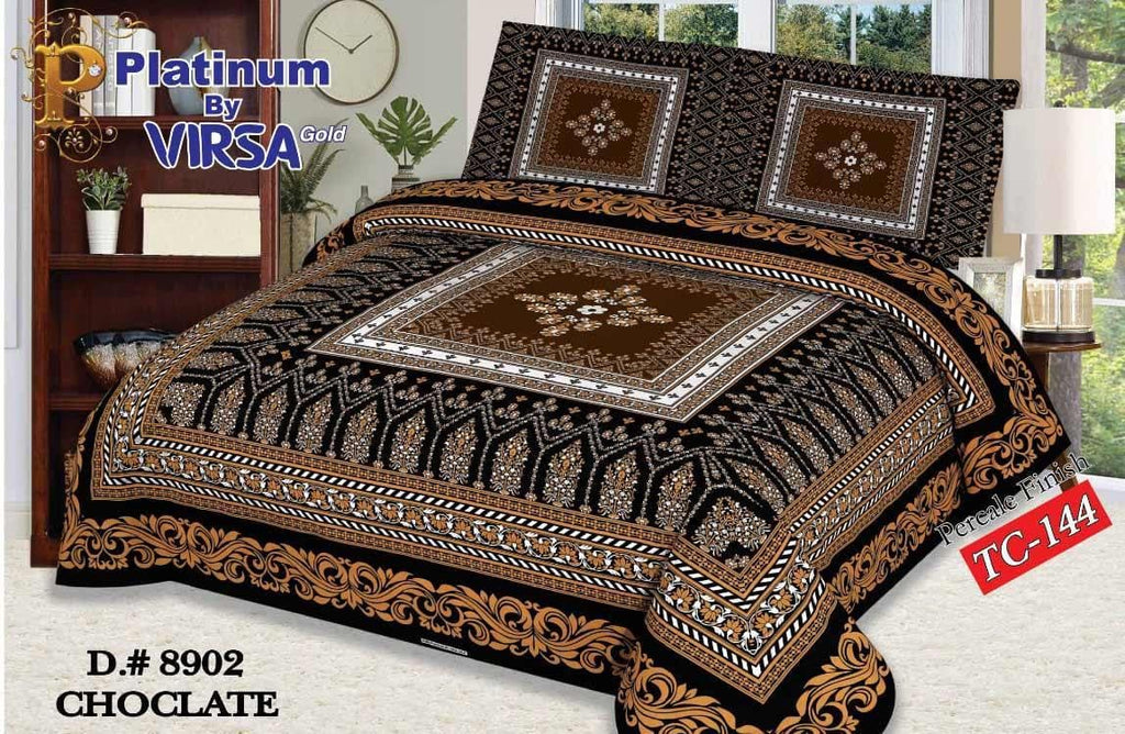 Panel Bed Sheet Design ZCP-Chocolate