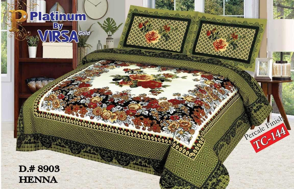 Panel Bed Sheet Design ZCP-Henna