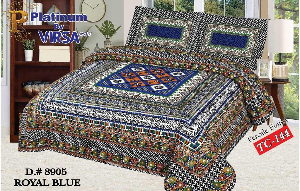 Panel Bed Sheet Design ZCP-Royal Blue