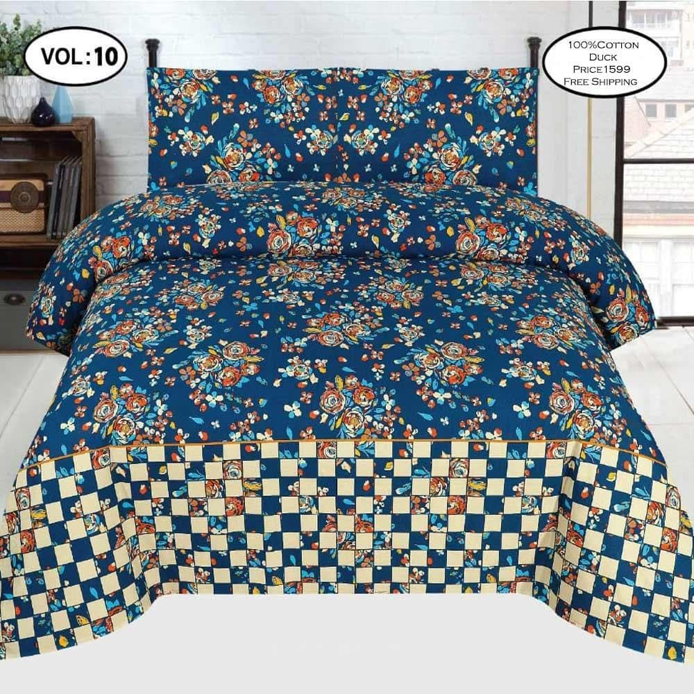 Cotton Duck Bed Sheet Design ZC-1002
