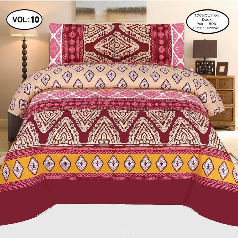 Cotton Duck Bed Sheet Design ZC-1004