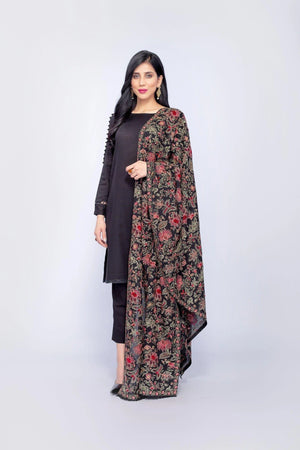Bareeze Br-0003 Formal Heavy Embroidered Karandi Lawn shawl