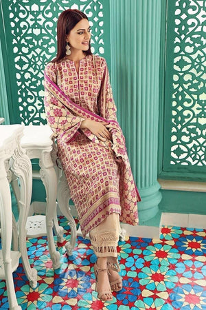 3 PCS GUL AHMED KHADDAR SUIT WITH WOOL SHAWL CODE D-51